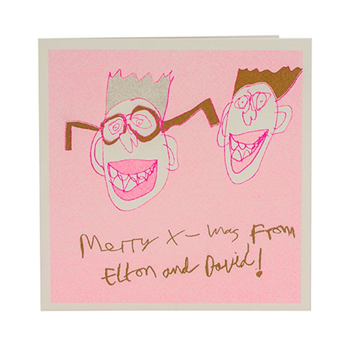 Merry Xmas from Elton & David Card - ARTHOUSE Unlimited