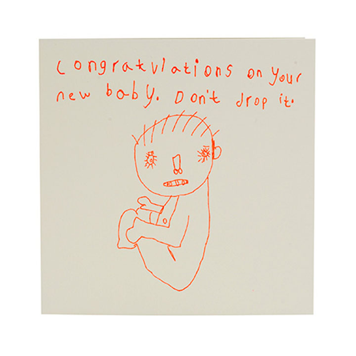 Congratulations On Your New Baby Don T Drop It Card ARTHOUSE