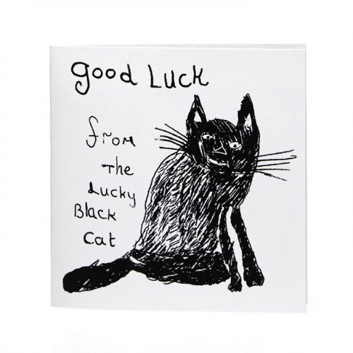 Lucky Black Cat Card