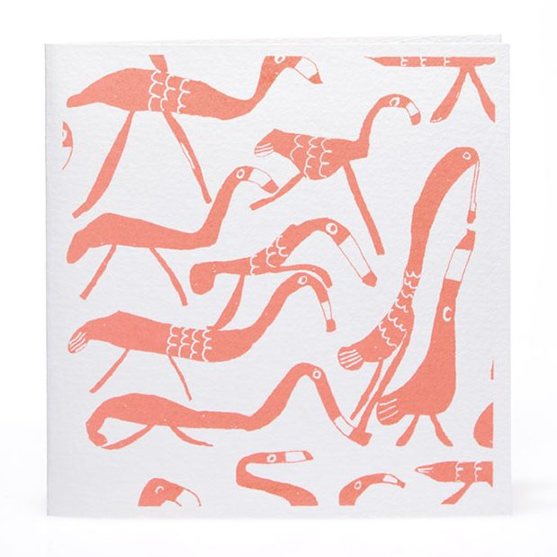 Flamingos Card