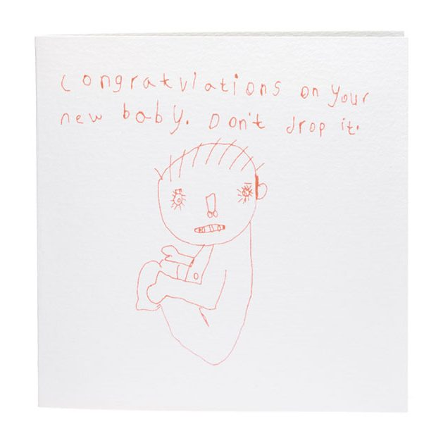 congratulations on your new baby dont drop it card