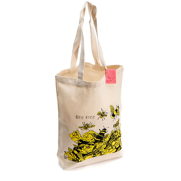Bee Free Canvas Tote Bag (Trade)