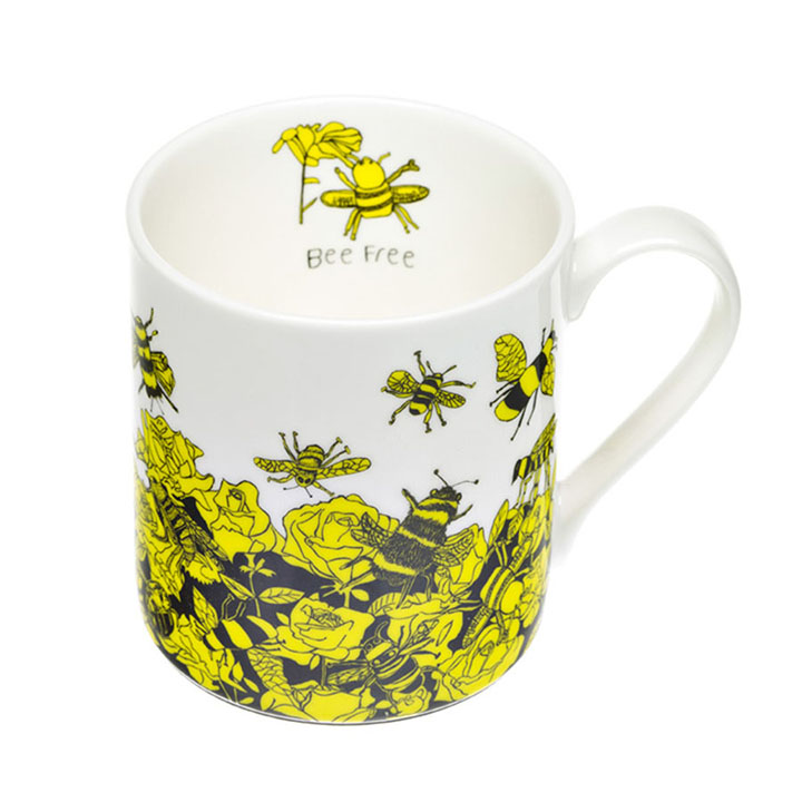 Bee Free Fine Bone China Mug (Trade)